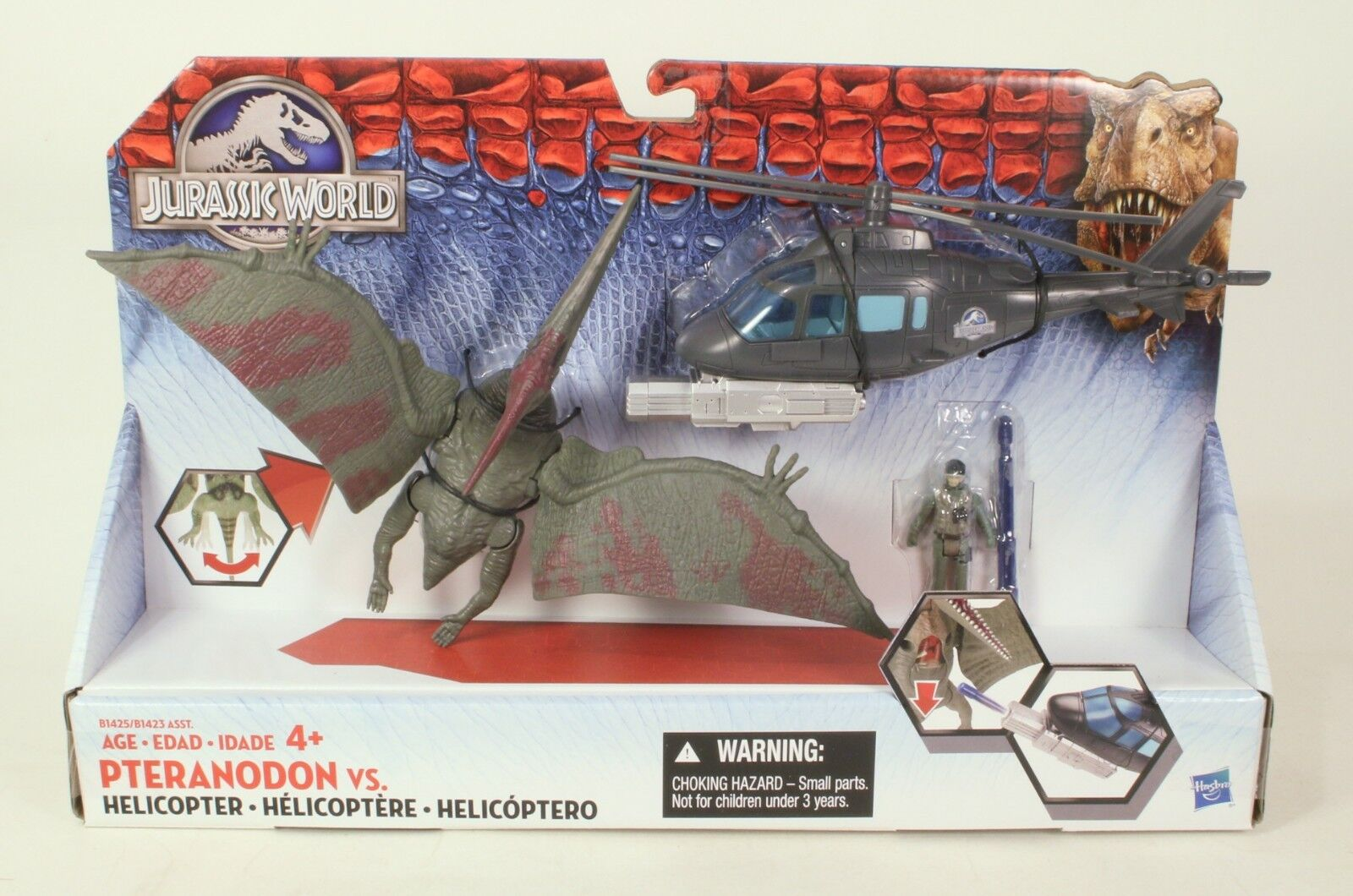 welt pteranodon vs. hubschrauber mib hasbro