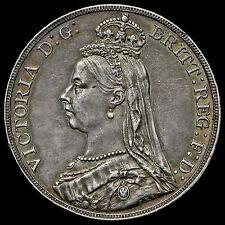 1889 Queen Victoria Jubilee Head Silver Crown – AEF / EF