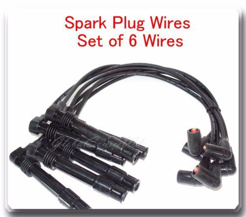 Set of Ignition Coil /& Spark Plug wire set Fits Audi A4 A6 VW Passat V6 2.8L