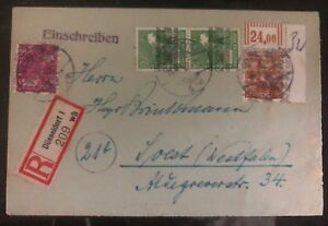 1948-Dusseldorf-Germany-AMG-Registered-Cover-To-Soest