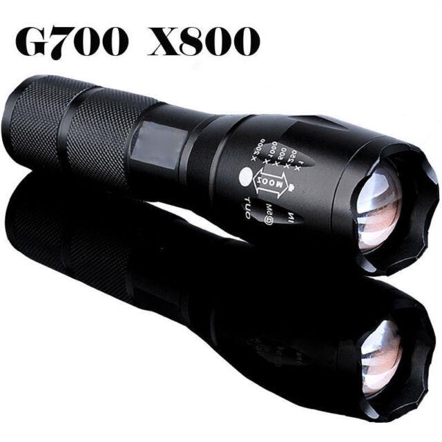 G700 X800 8000Lumen a zoom regolabile XML T6 LED 18650 TORCIA FOCUS LAMPADA LUCE