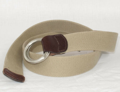 Lucky Brand Tan Cotton ORing Belt Sz. 30