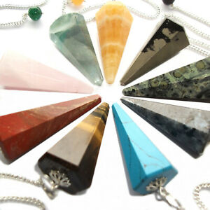 Details about Gemstone Crystal Point Dowsing Pendulum Scrying Dowser  Healing Reiki Therapy