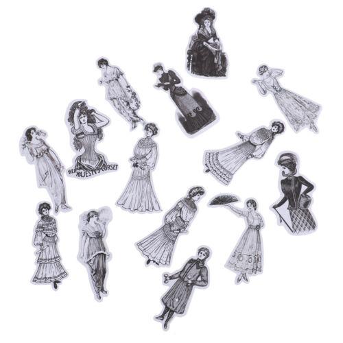 14Pcs//pack European lady stickers scrapbook DIY diary albums notebook deco BER