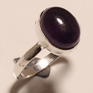 AMETHYST-CABOCHON-925-STERLING-SILVER-RING-8-5