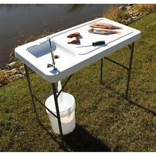 Folding Portable Fish Fillet Table Hunting Cutting Cleaning Sink Faucet Camping