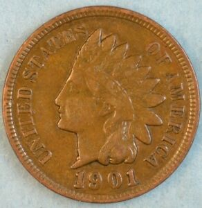 1901-Indian-Head-Cent-Vintage-Penny-Old-US-Coin-Liberty-Full-Rims-Fast-S-amp-H-502
