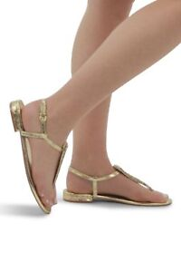 Women-039-s-Toe-Post-Diamante-Sandals-Ladies-Flats-Sling-Back-Holiday-Summer-Shoes
