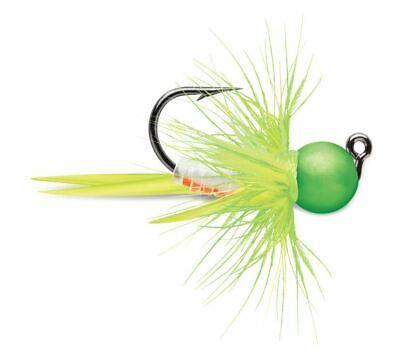 VMC Tungsten Bullfly Jig 1//64 oz Orange Chart Glow Pack of 2 Ice Fishing Jig