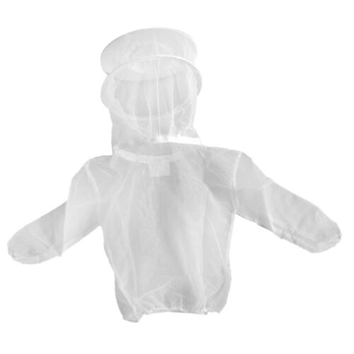 Beekeeper Beekeeping Protective Veil Suit Dress Jacket Smock Bee Hat White#2