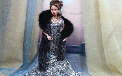 ~Black  Mink  Fur Muff 4 Silkstone Barbie Fashion Royalty dolls~by dimitha~