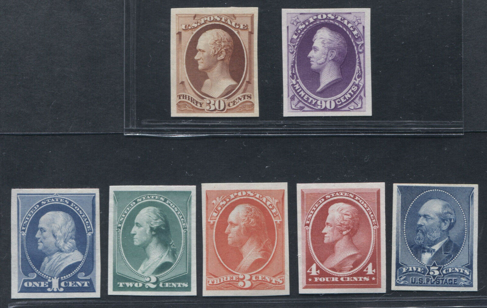 212P3-218P3 Plate Proofs on India Very Fine SCV $610 (9/27 TJ)