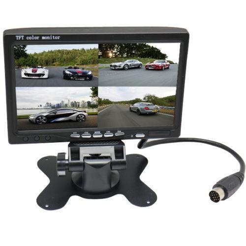 "7"" 4ch HD 800*480p (no 234*480) Car Split Quad Car Vehicles Monitor For 4 camera"