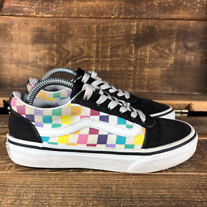 Vans Girls Multicolor Checkerboard Old Skool Skate Shoes Size 2
