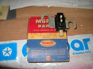 NOS-MOPAR-1949-50-HAND-BRAKE-SIGNAL-FLASHER-SWITCH-PLY-DOD-DESOTO