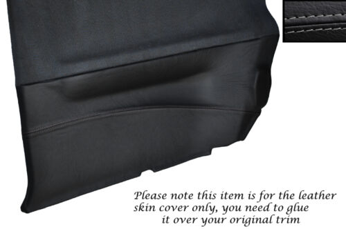 Gris stitch 2x carte de porte arrière couverture peau trim fits NISSAN SUNNY PULSAR GTiR