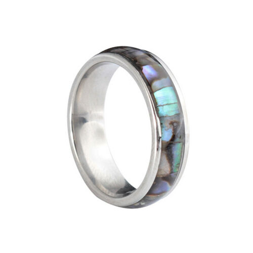 Hawaiian Abalone Shell Summer Smooth Rings Wedding Bands for Women Men Jewelry
