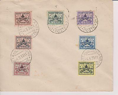 Sanft 1939 Citta Del Vaticano-brief Mif,mi 73-79-sede Vacante 3 Wochen Lang !! Schnelle Farbe Briefmarken