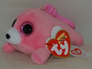 3976e746096 New! Ty Beanie Boos PIERRE the Pink Seal Key Clip Size Retired nwt s ...
