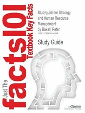 NEW Studyguide for Strategy and Human Resource Management by Boxall, Peter by Cr