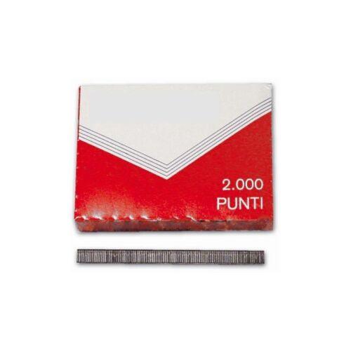 Punti per Cucitrice Puntatrice Fissatrice Da Ufficio 10 Scatoline Da 2000 Pz