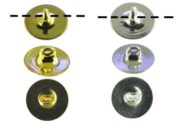 12 pcs Button Backs Button Shanks Silver or Gold 6mm or 10mm DIY unique Buttons