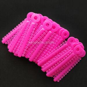 1bag Dental Elastics Hot Pink Ligature Ties Elastic Rubber Bands