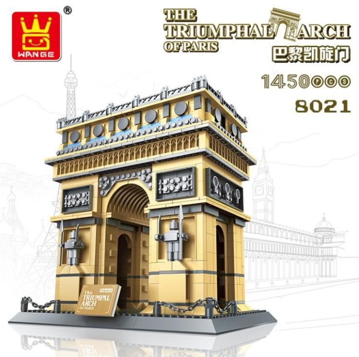 WANGE8021 Baukasten Weltberühmtes Gebäude   Paris Triumphal Arch Modelll Geschenk
