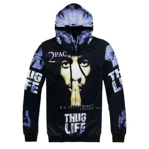 Men/'s Hip-Hop THUG LIFE 3D Print Hoodies Sweatshirts Jogger Pants Tracksuit PS15