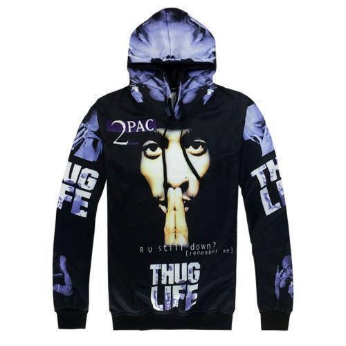 Men/'s Hip-Hop THUG LIFE 3D Print Hoodies Sweatshirts Jogger Pants Tracksuit PS15