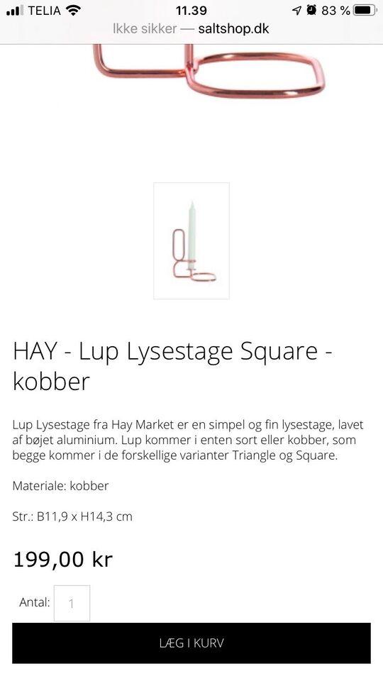 Lysestage, Hay