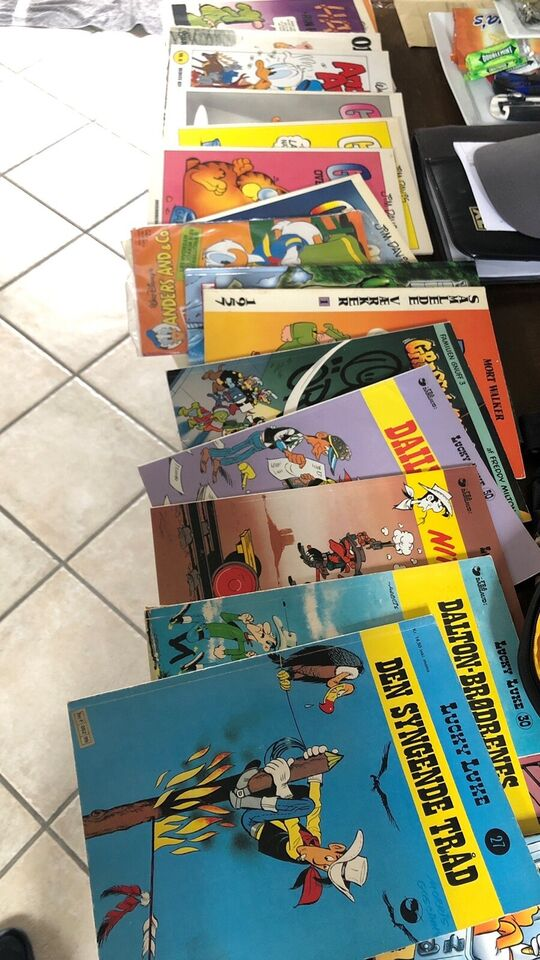 Lucky Luke Garfield Bl.a. , Tegneserie