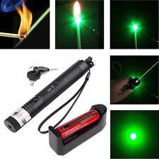 Laser Pointer Pen G301 532nm Burning Lazer Visible Beam +18650 +Charger Green SA