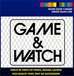 Sticker-Vinilo-GAME-amp-WATCH-Retro-Arcade-Bartop-Nintendo-Pegatina-Vinyl-G-amp-W