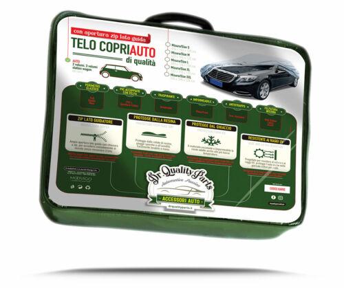 For Citroen C3 Aircross Telo Copriauto Felpato in Peva+Cotone Zip Apertura Porta