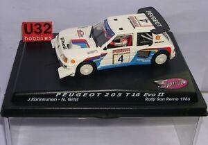 Avoir Un Esprit De Recherche Fn Spirit Peugeot 205 T16 Evo Ii #4 Rally San Remo 1986 J.kankkunen-n.grist Les Clients D'Abord