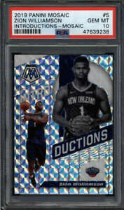 ZION WILLIAMSON 2019/20 PANINI MOSAIC PSA 10 INTRODUCTIONS SILVER ROOKIE FC7338