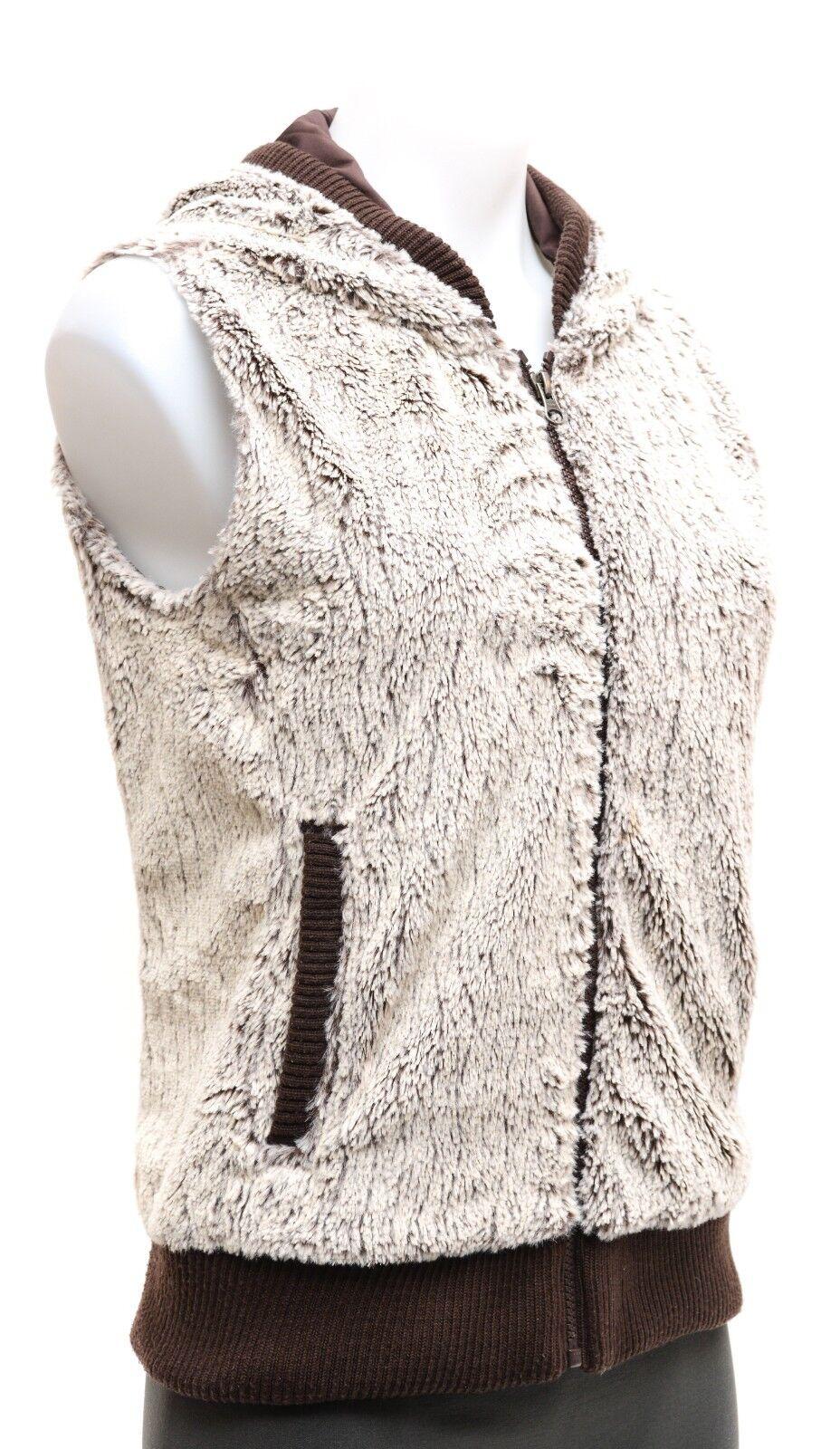 Patagonia Women's Conejo Hooded Fleece Vest XS Java Brown Casual Ski Fashion