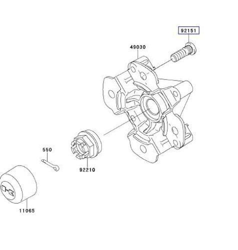 4 New Kawasaki Four Wheeler /& Mule Front /& Rear Wheel Hub Studs Lug Bolts Set