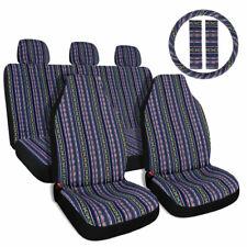 10pc Multi Color Universal Baja Saddle Blanket Car Seat Cover