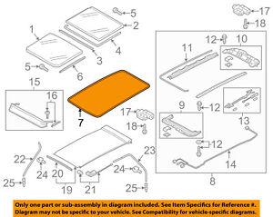 image is loading vw-volkswagen-oem-15-16-golf-sunroof-surround-