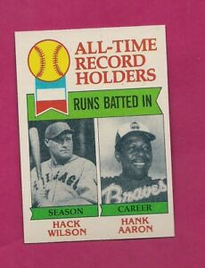 1979-TOPPS-412-BRAVES-HANK-AARON-RECORD-NRMT-MT-CARD-INV-A4289