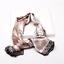 Indexbild 4 - Halstuch Seide Optik Tuch Rundschal 90cm Bandana Glanz Damen Schal Gold Mund