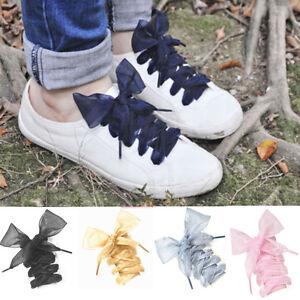 lace-Shoelaces-Flat-Silk-Satin-Ribbon-Sport-Shoes-Laces-Sneakers-Shoestrings-U87