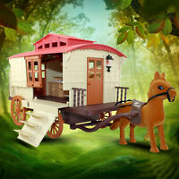 Furniture Set Carriage With Doll Kitchen Table Chairs For Sylvanian Families Toy