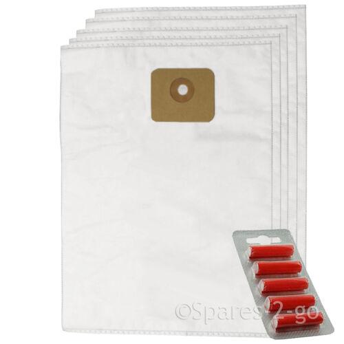 Fresh Hoover SMS Dust Bags for Nilfisk Multi Wet /& Dry 20 20T 30T Vacuum x 5