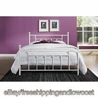 Furniture Footboard Headboard White Full Size Bed Frame Metal Bedroom