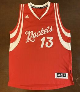 new style e6442 61611 Details about Rare Adidas NBA Houston Rockets James Harden 2015 Christmas  Day Jersey