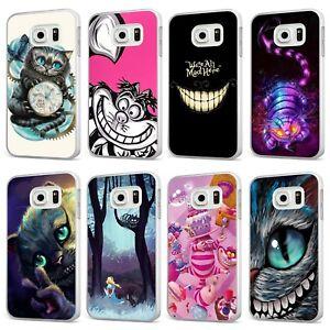 Détails sur Cheshire Cat Disney Alice Pays des Merveilles Blanc Téléphone Étui Housse Pour Samsung Galaxy- afficher le titre d'origine