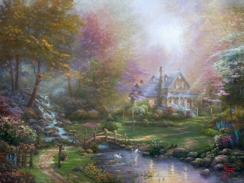 Thomas Kinkade Studios A Mothers Perfect Day 25.5 x 34 S//N Limited Edition Paper
